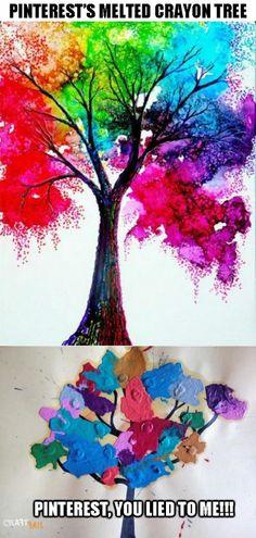 crayon tree NAILED IT