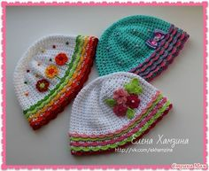 Cap with ruffles. - Elena Khamzina By popular demand, I did MC, but I will not describe in detail, how to knit cap itself, that is ...