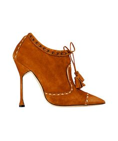 Manolo Blahnik Brwon Suede Ankle Boots Fall Winter 2012 #Manolos #Shoes #Heels                                                                                                                                                      More