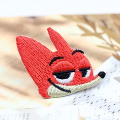 Hey, I found this really awesome Etsy listing at https://www.etsy.com/listing/272799548/zootopia-fox-nick-face-patch-embroidered