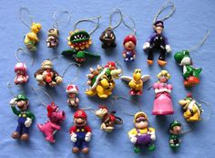 Nintendo character ornaments! I need to get back into sculpting. By ArtFiend on craftster.org.