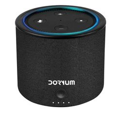 Portable Battery for Amazon Echo Dot Gen 2 Black//Ca VAUX Cordless Home Speaker