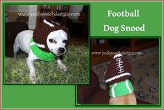 Ravelry: Football Dog Snood Hooded Cowl pattern by Sara Sach