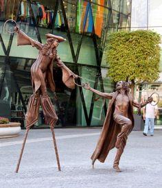 Olga and Pat . Bratislava,Slovakia . Sculptor  Colin Spofforth
