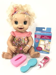 Hasbro Soft Face Baby Alive Doll Works 2007 Learn To Potty Talking Baby Barbie Kitchen, Baby Alive Dolls, W Dresses, Best Kids Toys, Aesthetic Food, Elmo, Projects For Kids, Doll Toys, Princess Peach