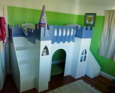 Step By Step Castle Loft Bed With A Slide #Home #Garden #Trusper #Tip