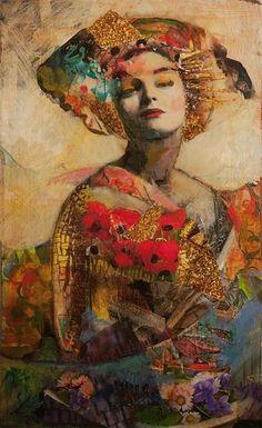 New Mixed Media Art Photography Faces Ideas Art And Illustration, Figure Painting, Painting & Drawing, Woman Painting, Art Du Monde, Figurative Kunst, Portrait Art, Face Art, Medium Art