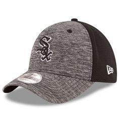 Chicago White Sox New Era Black Shadowed Team 39THIRTY Flex Hat - Graphite  Black Shadow 9d454f919e3