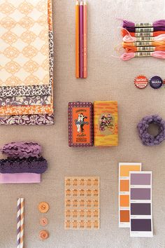 Magnolia Rouge: A colour story - Purple & Orange by Ruby & Willow