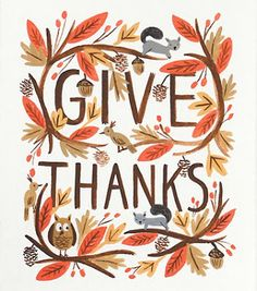 15 Pretty and Free Thanksgiving Printables- Give Thanks
