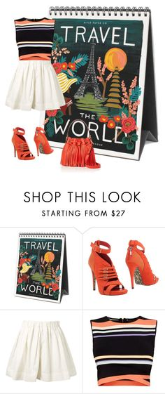 """""""She's Going Places"""" by lovetodrinktea ❤ liked on Polyvore featuring moda, Cesare Paciotti, Marc Jacobs, Ted Baker, Milly, women's clothing, women, female, woman y misses"""