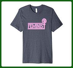 Mens Feminist shirt retro style pink feminism symbol tee shirts 3XL Heather Blue - Retro shirts (*Amazon Partner-Link)