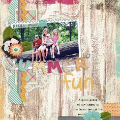 layout made using Summer Lovin' digital scrapbook kit by Simple Girl Scraps