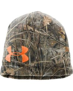 Under Armour Men's Camo Fleece Beanie  http://www.countryoutfitter.com/products/47853-mens-camo-fleece-beanie