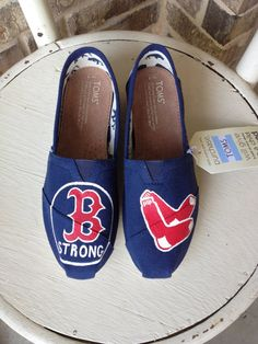 Boston Red Sox Hand Painted TOMS by brushandbow on Etsy, $95.00 Oh hello Megan Rothwell