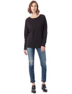 Alternative Apparel Scrimmage Vintage French Terry Sweatshirt - Royal Blue Xl