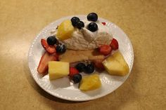 Skinni Pineapple Angel Food Cake!  This is a great base for all sorts of tasty summer fruits! You will be amazed at how moist the cake turns out by just adding the pineapple!
