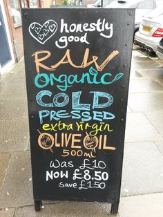 Honestly Good Raw Organic Cold-Pressed Olive Oil - P10W2 Chiswick - September 2015