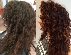 Pintura Highlights the Color Method for Curly Hair Dyed Hair, Burgundy Hair, Brunette Balayage Hair, Hair, Hair Styles, Natural Hair Styles, Hair Highlights, Long Hair Styles, Red Balayage Hair