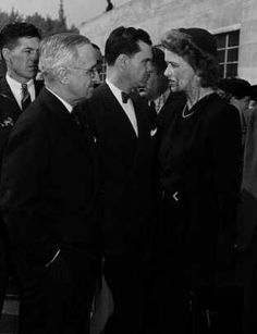 Anna Roosevelt (1906-1975). Daughter of Franklin D and Eleanor Roosevelt. Picture of Anna with Harry Truman at her father's funeral