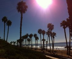 The beach and tracks by the pier in San Clemente (California travel)