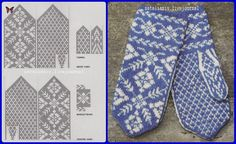 Knitted Mittens Pattern, Fair Isle Knitting Patterns, Knit Mittens, Knitting Charts, Knitted Gloves, Knitting Socks, Free Knitting, Norwegian Knitting, Textiles