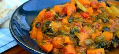 Peanut Curry with Sweet Potatoes and Swiss Chard