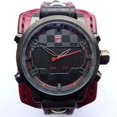 Jewellery,  Watches, Wrist Watches,  mens watch,  mans watch,  watch cuff,  leather watch,  wrist watch,  mens wrist watch,  mens cuff watch,  watch,  cuff watch,  leather cuff watch,  men's watch,  leather cuff,  bracelet watch,
