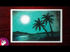 Drawing of the scenery of moonlight with oil pastels step by step - Nature drawing. Scenery drawing step by step. Scenery drawing with . Oil Pastel Paintings, Oil Pastel Drawings, Cool Drawings, Pencil Drawings, Watercolor Paintings, Soft Pastel Art, Pastel Colors, Art Corner, Nature Drawing