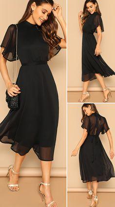 Elegant Dresses Classy, Elegant Outfit, Classy Dress, Stylish Dresses, Casual Dresses For Women, Pretty Dresses, Beautiful Dresses, Holiday Fashion, Fashion Fashion