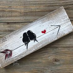 Wood Arrow Wall Art Valentine's Day Gift Farm Wood Sign You and Me Sign Signs Reclaimed Wood Art Gift Engagement Gift Idea Love Bird Painting Wood Love Art Wood Wall Decor Wedding Anniversary Gift for Couple by Linda Fehlen Wood Gallery You and me – birds Arrow Painting, Love Birds Painting, Painting On Wood, Rustic Painting, Painting Quotes, Love Birds Drawing, Wood Paintings, Diy Painting, Arte Pallet