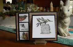 Thank you to the Blog, Inking Idaho, for the inspiration I needed to think outside of the box with this Stampin' Up Nature Walk set!