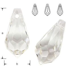 6000 Drop 13x6,5mm Crystal  Dimensions: 13,0 x 6,5 mm Colour: Crystal 1 package = 1 piece