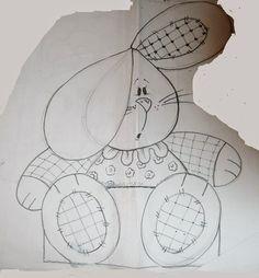desenho coelhinho de pascoa para pintar