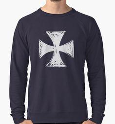 """Cross pattee - Silver Edition"" Lightweight Sweatshirts by Lidra   Redbubble"