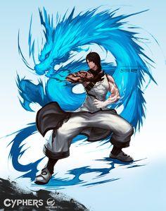 천기의 티엔 Cyphers Force Tien Chung 天正 character design