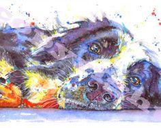 Great Dane photo impression dAquarelle Aquarelle chien