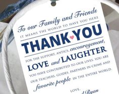san diego welcome letter wedding - Google Search