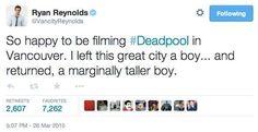 Deadpool Movie Twitter Responses | Ryan Reynolds Deadpool Tweets (Page 6)