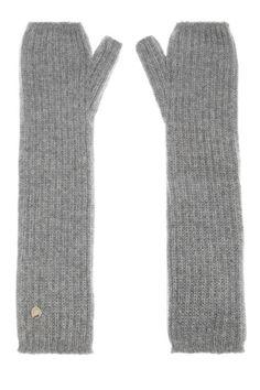 Mulberry Ribbed Cashmere Fingerless Gloves, $170; net-a-porter.com