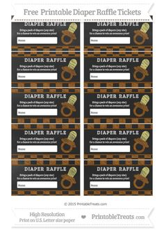 Free Brown Checker Pattern  Chalk Style Baby Pacifier Diaper Raffle Tickets