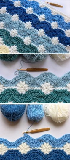 Free Pattern – Blanket from Embossed and Daisy Squares - Design Peak
