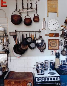 Various Australian kitchenalia in the Sydney home of curators and collectors Campbell Robertson-Swann and Lauren Harvey. From The House of Curiosities, a story on page 123 of Vogue Living July/August 2013. Photograph by Mikkel Vang.