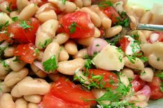 Dilled White Bean and Grape Tomato Salad. Photo by French Tart