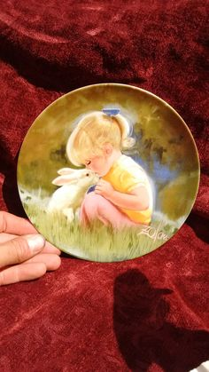 """Donald Zolan """"Tender Moment"""" collector plate 1984 by timemachineplus on Etsy"""