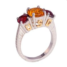 USC Ring Trojan 14kt Gold USC Sterling Silver Genuine Stone Made in USA Official Licensed by Mdelaluzjewelry #USC#Trojan#College#Genuine#Stone#SCTrojans#USCTojans#Official#