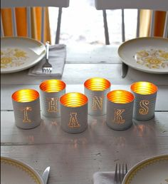 Tin punched votive candles will light up your wedding guests' tables when the sun goes down after the ceremony. Source: A Beautiful Mess Easy Christmas Cookie Recipes, Christmas Crafts To Sell, Christmas Crafts For Toddlers, Tin Can Crafts, Easy Fall Crafts, Fun Diy Crafts, Toddler Crafts, Fall Crafts For Adults, Handmade Christmas