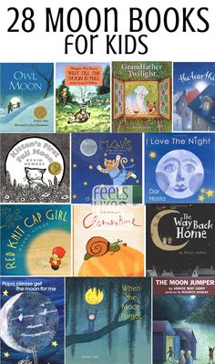 We are beginning a moon unit, and I have collected together what I think are the best moon books for kids. These books are all fiction (non-fiction in a separate post coming soon), and they would be great for any preschool or elementary unit or lesson dea Moon Activities, Space Activities, Nature Activities, Music Activities, Winter Activities, Moon Unit, Preschool Books, Preschool Kindergarten, Science Books