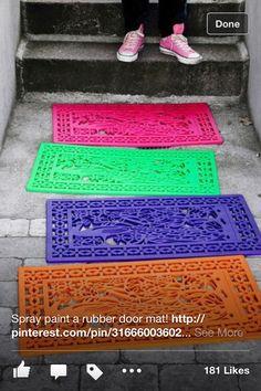 Paint door mats
