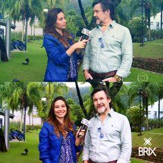 A repórter Marcela Monteiro, do Vídeo Show, apostou na nossa jaqueta azul perfect e arrasou! ღ  #jaqueta #estilobrix #brixjeanswear #videoshow